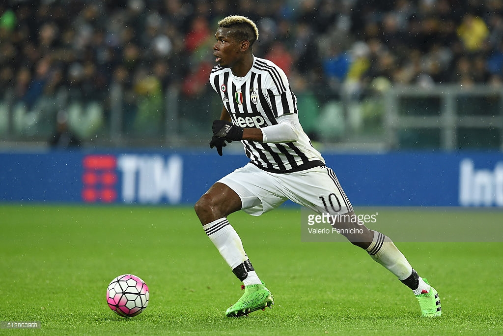 Paul Pogba of Juventus FC in action during the Serie A match between Juventus FC and FC Internazionale Milano at Juventus Arena on February 28, 2016 in Turin, Italy. February 28, 2016| Credit: Valerio Pennicino